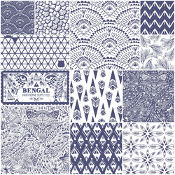 Bengal Fat Quarter Bundle in Indigo