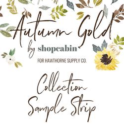Autumn Gold Sample Strip