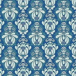Vienna Damask in Navy