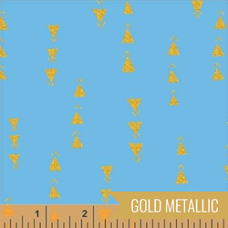 Points in Turquoise Metallic
