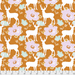 Deer Floral in Orange