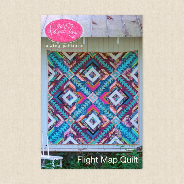Flight Map Quilt Sewing Pattern by Anna Maria Horner at Hawthorne ...