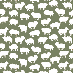 Sheep Silhouette in Olive