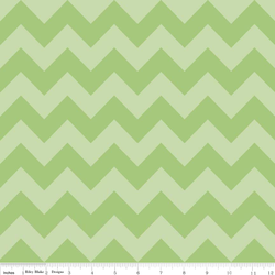Medium Chevron Tone on Tone in Green