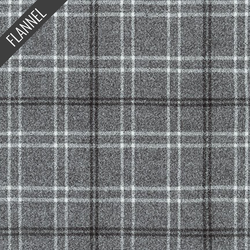 Mammoth Small Modern Tartan Plaid Flannel in Pepper