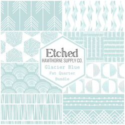 Etched Fat Quarter Bundle in Glacier Blue