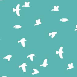 Flock Silhouette in Seafoam