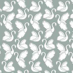 Swan Silhouette in Eucalyptus