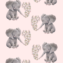 Baby Elephant in Soft Blush