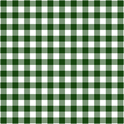 Gingham Check in Green Leaves