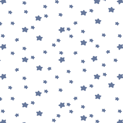 Star Light in Azurite on White