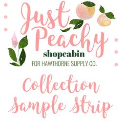 Just Peachy Sample Strip