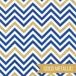 Zig Zag Stripe in Royal Metallic