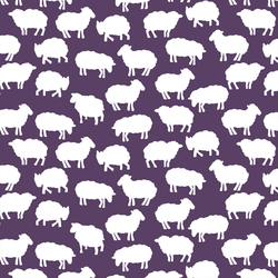 Sheep Silhouette in Aubergine