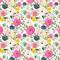 Small Free Falling Florals in Free Spirit