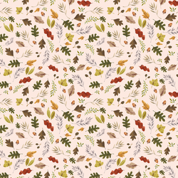 Little Leaves in Soft Peach