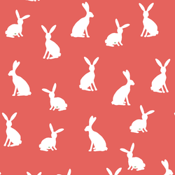 Cottontail Silhouette in Salmon