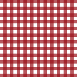 Holiday Gingham in Berry Red