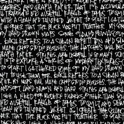 Scribble Notes Wide in Black