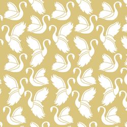 Swan Silhouette in Honey