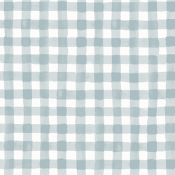 Painted Gingham in Slate