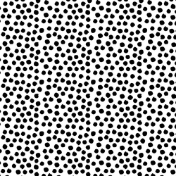 Painted Dot in Black on White