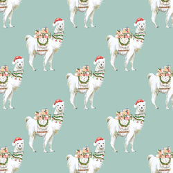Little Festive Llama in Winter Green