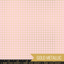 Grid in Metallic Pink Gold