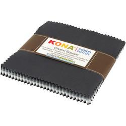 "Kona Solid 5"" Square Pack in Stormy Skies"