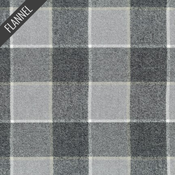 Mammoth Modern Windowpane Flannel in Platinum