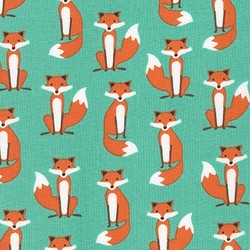 Fabulous Foxes in Aqua