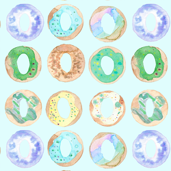 Donuts in Light Blue