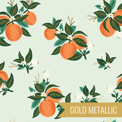Citrus Blossom in Orange Metallic