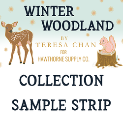 Winter Woodland Sample Strip