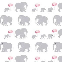 Safari Elephants in White