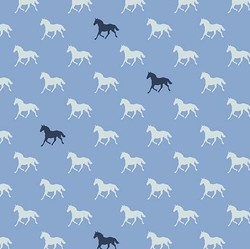 Horses in Blue