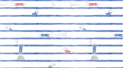 Swimmers Stripe in White