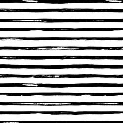 Watercolor Stripes in Black