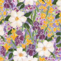 Mardi Gras Floral in Multi