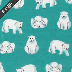 Polar Bears in Teal