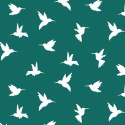 Hummingbird Silhouette in Emerald