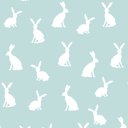 Cottontail Silhouette in Glacier Blue
