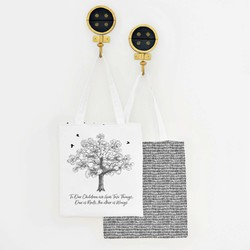 Roots and Wings Tote Panel in Onyx