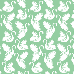 Swan Silhouette in Sprout