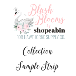 Blush Blooms Sample Strip