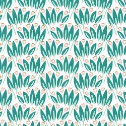 Jungle Floor in White