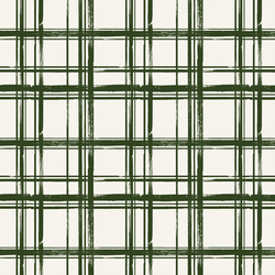 Little Painted Plaid in Dark Fern on Ivory