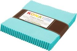 """Kona Solid 5"""" Square Pack in Bahama Blue"""