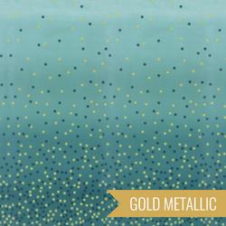 Ombre Confetti Metallic in Lagoon