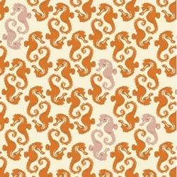 Sea Horses in Cream-Orange